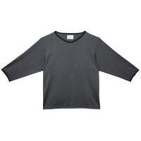 トンボ キラク メンズ検診用シャツ CR847 チャコールグレー BL 検査衣(患者衣・検診衣) 1枚 (取寄品)