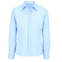 BON(ボン) 事務服 小さいサイズ 長袖開襟ブラウス ブルー 7号