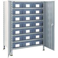 トラスコ中山 TRUSCO 軽量棚扉付 875X533XH1200 樹脂引出透明 大X21 43XT808D7 1台 504ー2763 (直送品)