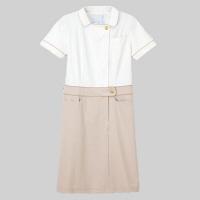 ナガイレーベン Beads Berry ワンピース LH-6277 オフホワイト L 医療白衣 1枚 (取寄品)