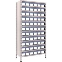 トラスコ中山 TRUSCO 軽量棚 875X450XH1800 樹脂引出透明 小X66 63X812C11 1台 503ー3969 (直送品)