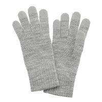 ウール混タッチパネル手袋 Lグレー