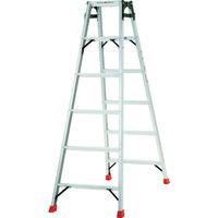 TRUSCO(トラスコ中山) はしご兼用脚立 アルミ合金製脚カバー付 6段 (6尺 169cm) THK180 1台 512-3691 (直送品)