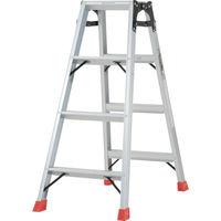 TRUSCO(トラスコ中山) はしご兼用脚立 アルミ合金製脚カバー付 4段 (4尺 111cm) TPRK120 1台 273-7591 (直送品)