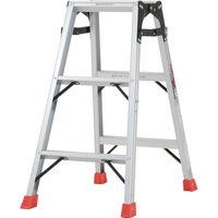TRUSCO(トラスコ中山) はしご兼用脚立 アルミ合金製脚カバー付 3段 (3尺 81cm) THK090 1台 512-3666 (直送品)