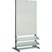 トラスコ中山 TRUSCO UPR型パンチングラック 棚板付 両面 UPR6004 1台 501ー5600 (直送品)