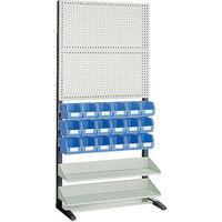 トラスコ中山 TRUSCO UPR型パンチングラック 棚板2段 VNー2NX18個付 UPR208N 1台 365ー7604 (直送品)