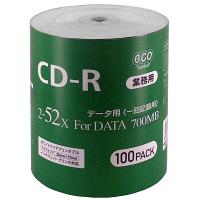 HIDISC CD-R データ用 52倍速 ワイドプリンタブル CR80GP100_BULK 1パック(100枚入)