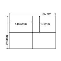 東洋印刷 ナナコピー 粘着ラベル 白 A4 4面 1箱(100シート入×5袋) C4I