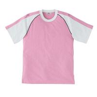 トンボ 介護ユニフォーム キラク 男女兼用入浴介助用Tシャツ CR095 ピンク 4L 1枚 (取寄品)