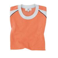トンボ 介護ユニフォーム キラク 男女兼用入浴介助用Tシャツ CR095 オレンジ 4L 1枚 (取寄品)