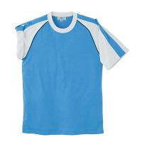 トンボ 介護ユニフォーム キラク 男女兼用入浴介助用Tシャツ CR095 ブルー 4L 1枚 (取寄品)