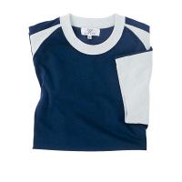 トンボ 介護ユニフォーム キラク 男女兼用入浴介助用Tシャツ CR095 ネイビー 4L 1枚 (取寄品)