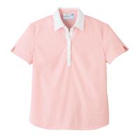 トンボ 介護ユニフォーム キラク レディスニットシャツ CR122 ピンク 4L 1枚 (取寄品)
