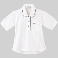 トンボ 介護ユニフォーム キラク レディスニットシャツ CR124 ホワイト 4L 1枚 (取寄品)
