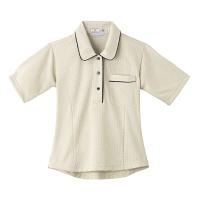トンボ 介護ユニフォーム キラク レディスニットシャツ CR124 チェックベージュ 4L 1枚 (取寄品)