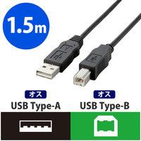 USB2.0ケーブル A-B 1.5m