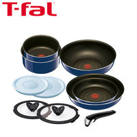 T-fal(ティファール) インジニオ・ネオ グランブルー・プレミア 10点セット (鍋 フライパン 取ってのとれるタイプ) ガス火専用 (取寄品)