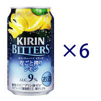 キリンビール ビターズ皮ごと搾りレモン 350ml 6缶