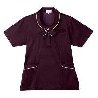トンボ 介護ユニフォーム キラク レディスニットシャツ CR168 ダークブラウン 4L 1枚 (取寄品)