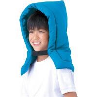 衝撃吸収防災ずきん/ブルー 101303-10 フットマーク (取寄品)