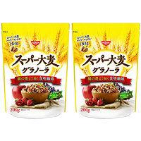 日清シスコ スーパー大麦 グラノーラ 16451 1セット(2袋入)