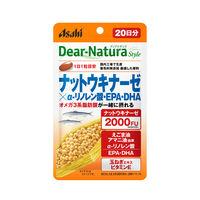 ディアナチュラ(Dear-Natura)スタイル ナットウキナーゼ×α-リノレン酸EPA 20日分(20粒入) アサヒグループ食品 サプリメント