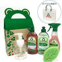 【数量限定】 フロッシュ ブランド紙袋付き! ギフトボックス2 (食器用洗剤2種類・キッチンクリーナー・食器用洗剤専用泡ポンプボトル・スポンジ)