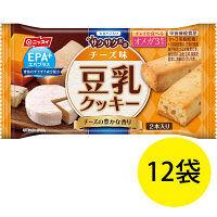 EPA+(エパプラス) 豆乳クッキー サクサク食感 チーズ味 27g 1セット(12袋) ニッスイ 栄養補助食品