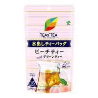 【水出し可】伊藤園 TEAS' TEA NEWAUTHENTIC 水出しティーバッグ ピーチティーwithグリーンティー 1袋(15バッグ入)