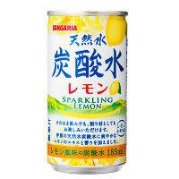 【アウトレット】サンガリア 天然水炭酸水レモン 185ml 1箱(30本入)