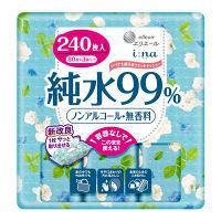 ウェットティッシュ ノンアルコール エリエール イーナ いつでも使えるウェットティシュー 純水99% 1パック(80枚×3個) 大王製紙