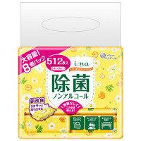 大容量 ウェットティッシュ ノンアルコール エリエール イーナ いつでも使えるウェットティシュー 除菌(ノンアルコール) 1パック(64枚×8個) 大王製紙