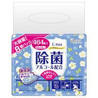 大容量 ウェットティッシュ アルコール エリエール イーナ いつでも使えるウェットティシュー 除菌(アルコール配合) 1パック(58枚×8個) 大王製紙