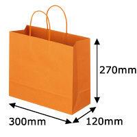 レザートーン手提袋 丸紐 マンダリン L 1袋(10枚入) スーパーバッグ