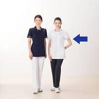 AITOZ(アイトス) スクエアネックチュニック(ナースジャケット) 医療白衣 半袖 ホワイト L 861365-001