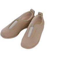 あゆみ 介護靴 1023センターゴムII ベージュLL(24.0-24.5cm)両足 施設・院内用 (取寄品)