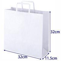 平紐手提袋 薄型エコノミータイプ 白 無地 M 1袋(50枚入) アスクル