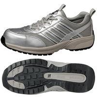 ミドリ安全 JSAA認定 軽量 作業靴 プロスニーカー SL601 30.0cm シルバー 1足 2125041818(直送品)