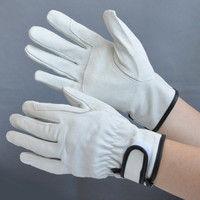ミドリ安全 豚革手袋 マジックあて付き AG-527 Lサイズ 1セット(10双入) R4041429830 (直送品)