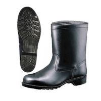 ミドリ安全 安全靴 半長靴 革製ゴム底 HS400N ブラック 24.5cm A10400419 1足 (直送品)