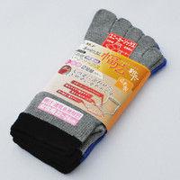ミドリ安全 5本指靴下 ハーフソックス 女性用 カラー FT-2104 2足組 1セット(2足×5組入) R9473803541 (直送品)