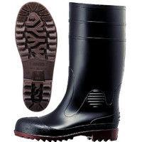ミドリ安全 先芯入り 安全ゴム長靴 ワークエース W1000スーパー ブラック 24.0cm 2140001007 (直送品)