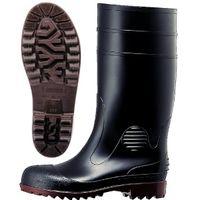 ミドリ安全 先芯入り 安全ゴム長靴 ワークエース W1000スーパー ブラック 25.5cm 2140001010 (直送品)