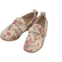 あゆみ 介護靴 1067ダブルマジックIIローズ アイボリーL(23.0-23.5cm)両足 施設・院内用 (取寄品)
