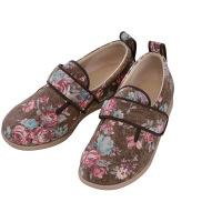 あゆみ 介護靴 1067ダブルマジックIIローズ 茶M(22.0-22.5cm)両足 施設・院内用 (取寄品)