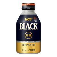 缶コーヒー UCC BLACK(ブラック)無糖 DEEP&RICH ボトル缶 275g 1箱(24缶入)