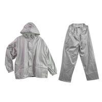 透湿レインスーツ シルバー 4L ウィンタス (直送品)