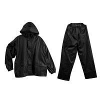 透湿レインスーツ ブラック L ウィンタス (直送品)