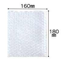 プチプチ袋 フタなし 160mm×180mm 半透明 1袋(100枚入) 川上産業